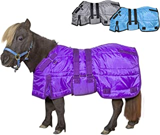 Derby Originals Windstorm Series Premium Mini Horse and Pony Winter Stable Blanket with 420D Breathable Nylon Exterior - Medium Weight 200g Polyfil Insulation