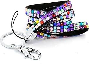 10pcs Cinghia Tracolla Porta Badge Di Identificazione porta chiavi chiusura metallico rosso