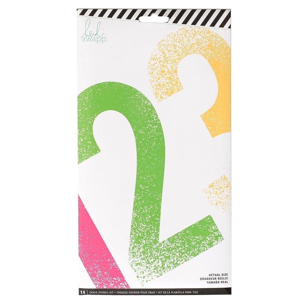 American Crafts Heidi Swapp Chalk Art Stencils Numbers 12 Piece