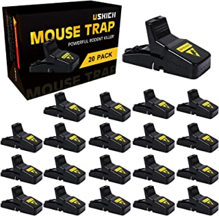 USKICH 20 Pack Mouse Trap Mice Trap That Work Human Power Mouse Killer Mouse Catcher Quick Effective Mouse Trap Mice Trap ...