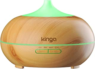 Kinga Aroma Diffuser Essential Oil Diffuser Air Purifier Home Humidifier Cool Mist 300ML Light-wood color UK Adapter included