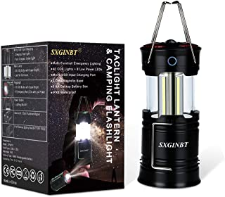 Taclight Lantern,COB Lantern,SXGINBT Camping Lantern Flashlight,USB Rechargeable,Backup Battery Emergency Lighting for Hurricane/Earthquake/Power Outage