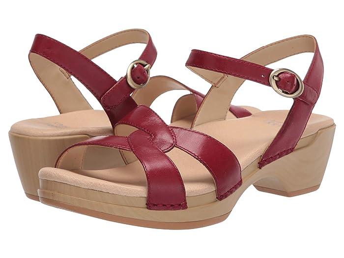 Vintage Sandals | Wedges, Espadrilles – 30s, 40s, 50s, 60s, 70s Dansko Karmen Red Burnished Calf Womens Shoes $87.99 AT vintagedancer.com