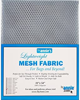 Annies Lightweight Pewter Mesh Fabric LTWT 18x54, 54 Inches