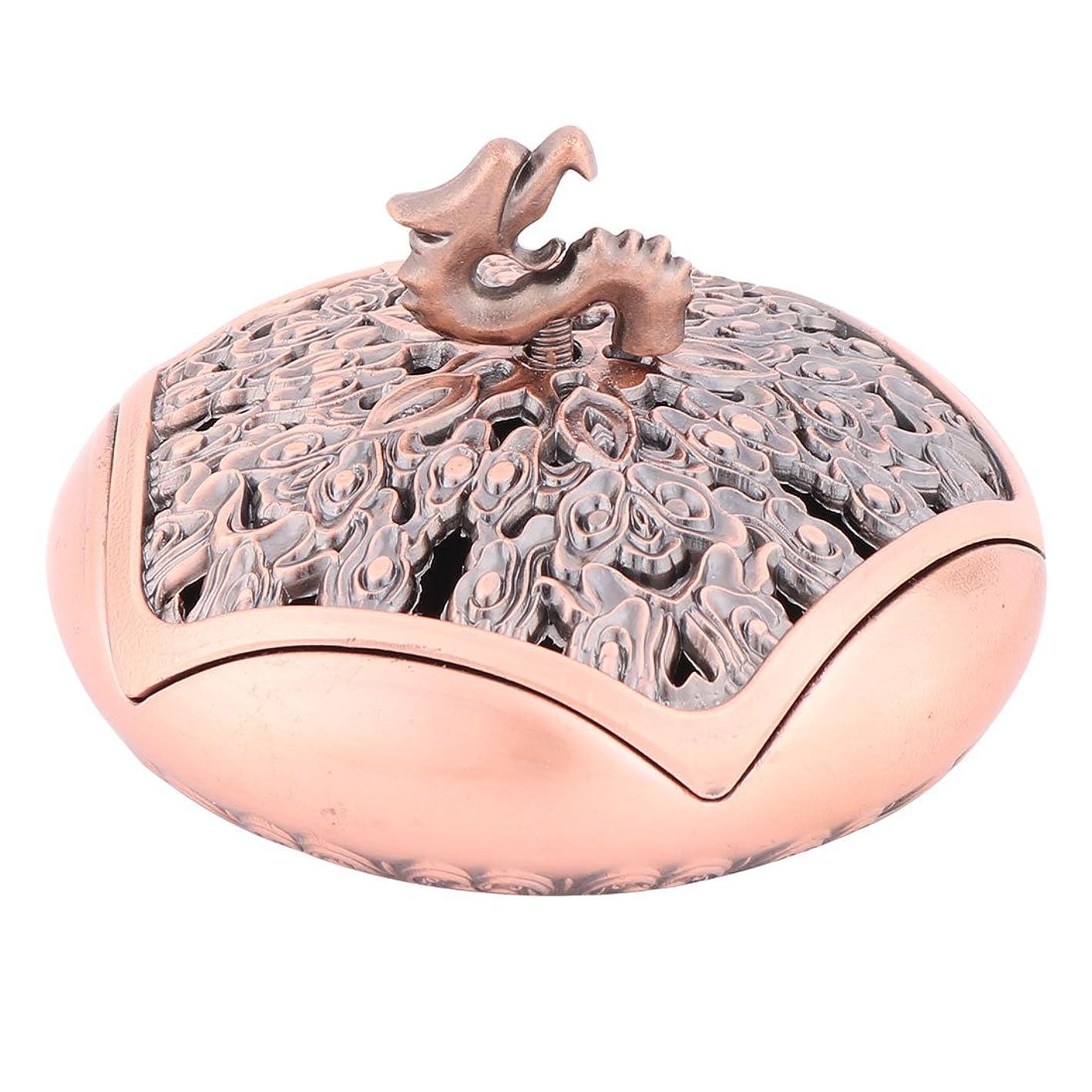 格納回転させる海藻uxcell 線香立て 横置き おしゃれ 香料貯蔵ツール 合金製 香箱アクセサリー 幸運 香箱ホルダーアクセサリー 寝室用 外径9.6cm シャンペン色