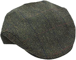 herringbone tweed hat