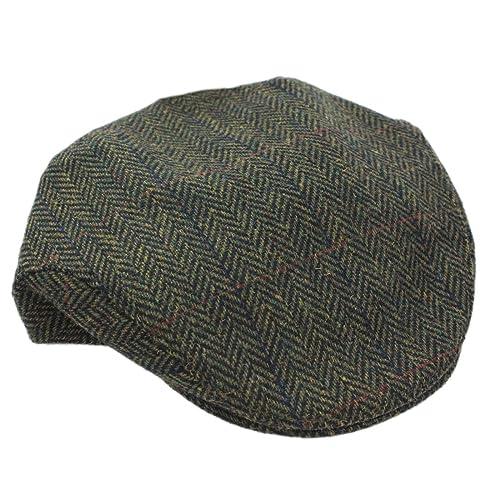 3e858990973 Mucros Flat Irish Hat Men s Green Herringbone Made in Ireland