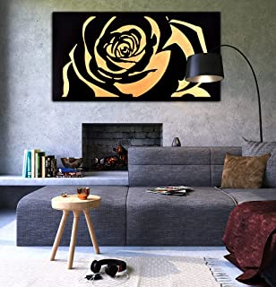 """Ace Rose Wall Art Engraved in MDF 