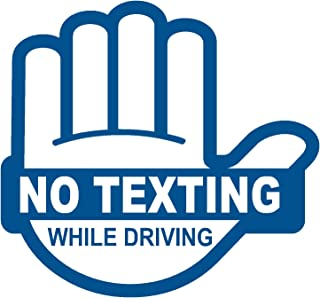 No Texting While Driving Blue Sticker Decal Label