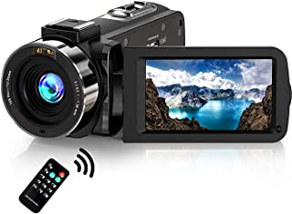 "Camcorder 1080P Video Camera, Stansom Full HD 30MP 30FPS IR Night Vision WIFI Digital Vlogging Camera Recorder 3.0"" 270° R..."