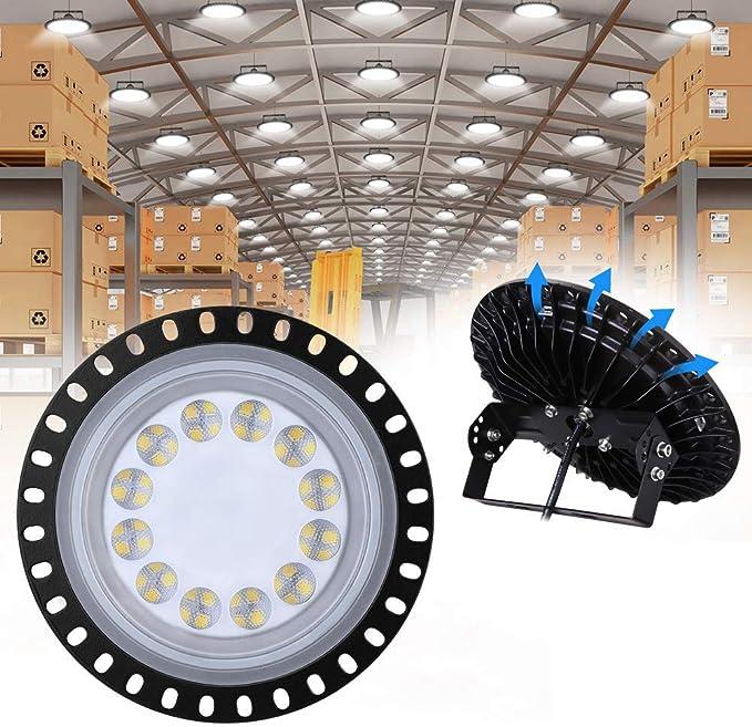 242 opinioni per 50W LED UFO 5000LM, WZTO Proiettore Faretto LED Lampadario Lampada Interni