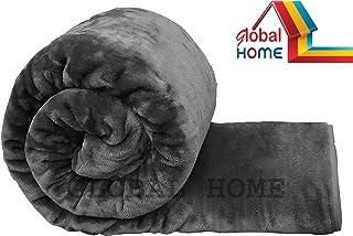 Global Home Microfiber 400 TC Blanket (Grey_King)