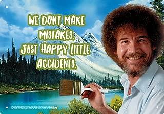 Aquarius Bob Ross Happy Little Accidents 8X11.5 Tin Sign
