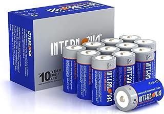 Internova Ultra Alkaline C Batteries, LR14 1.5V Cell High Performance, 12 Pack
