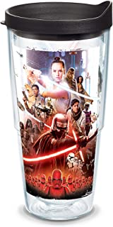 Tervis 1338687 Star Wars Episode IX Poster BPA Free Insulated Travel Tumbler with Wrap & Lid, 24oz - Tritan, Clear