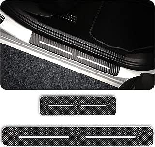 Per Ypsilon Flavia Battitacco Soglia Porta Auto,Carbon Fiber Sticker adesivi Styling,Esterno Batticalcagno Prevenire lusura Previene graffi 4Pezzi Rosso