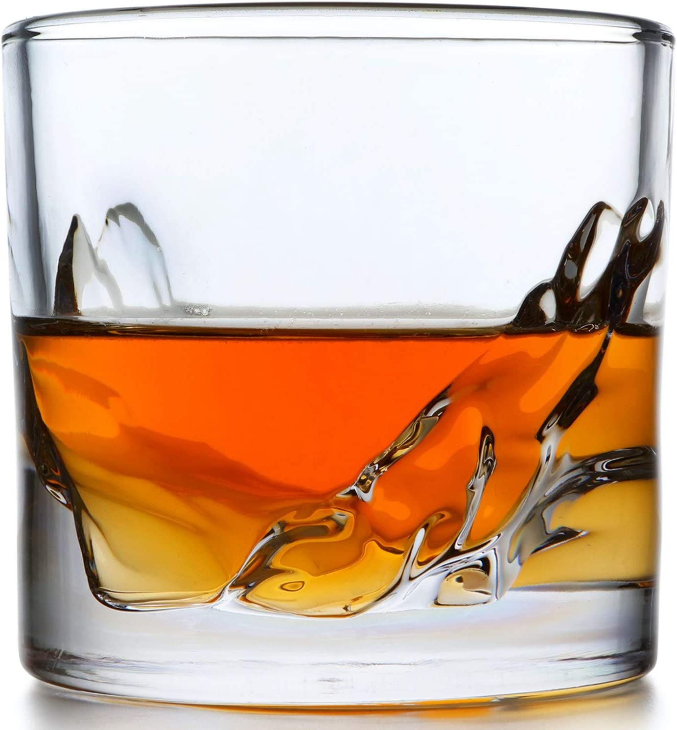 LIITON Grand Canyon Whiskey Glass Set of 4: Heavy Whisky Tumbler Best as Old Fashioned Glasses