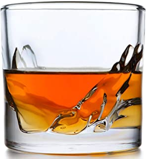 Whiskey Glass Set of 4: Heavy Whisky Tumbler Best as Old Fashioned Glasses, Scotch, Bourbon, or Bar Drinks in a Gorgeous M...