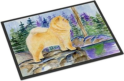 """Caroline's Treasures SS8003MAT Chow Chow Indoor Outdoor Doormat, 18"""" x 27"""", Multicolor"""