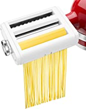 Pasta Maker Attachment for KitchenAid Stand Mixers 3 in 1 Set Includes Pasta Roller Spaghetti Cutter &Fettuccine Cutter, D...