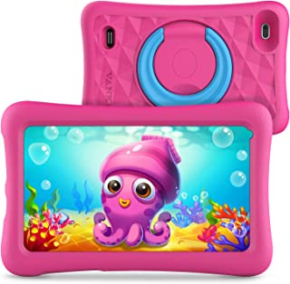 Vankyo MatrixPad Z1 Kids Tablet 7 inch, 32GB ROM, Kidoz Pre Installed, IPS HD Display, WiFi Android Tablet, Kid-Proof Case, Pink