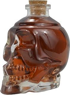 Ducomi® Rover - Botella de Vidrio en Forma de Calavera para Licores, Vino, Cerveza y Licores con Corcho - Original Idea de Regalo (1 Piece, 380 ml)