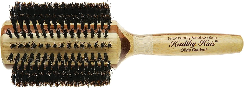 Olivia Garden Healthy Hair B50 - Cepillo de bambú, 100% cerda de jabalí, 50 mm