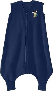 HALO Big Kids Sleepsack Micro Fleece Wearable Blanket, Blue Moose, 2-3T