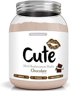 comprar comparacion Cute Nutrition Batido Sustitutivo de Comida Sabor Chocolate para el Control de la Pérdida de Peso en Polvo Bebida Dietétic...