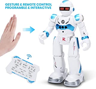 DEERC Robot Toys for Kids Boys Smart Programmable Remote Control Robots with Gesture Sensing,Walking,Talking,Singing,Dancing,Intelligent Toy Gift for Boys Girls