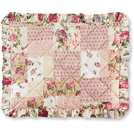 Pink Roses /& Mustard Leaves  by new/_branch/_studio Floral Pillow Sham Spring Roses Cotton Sateen Pillow Sham Bedding by Spoonflower