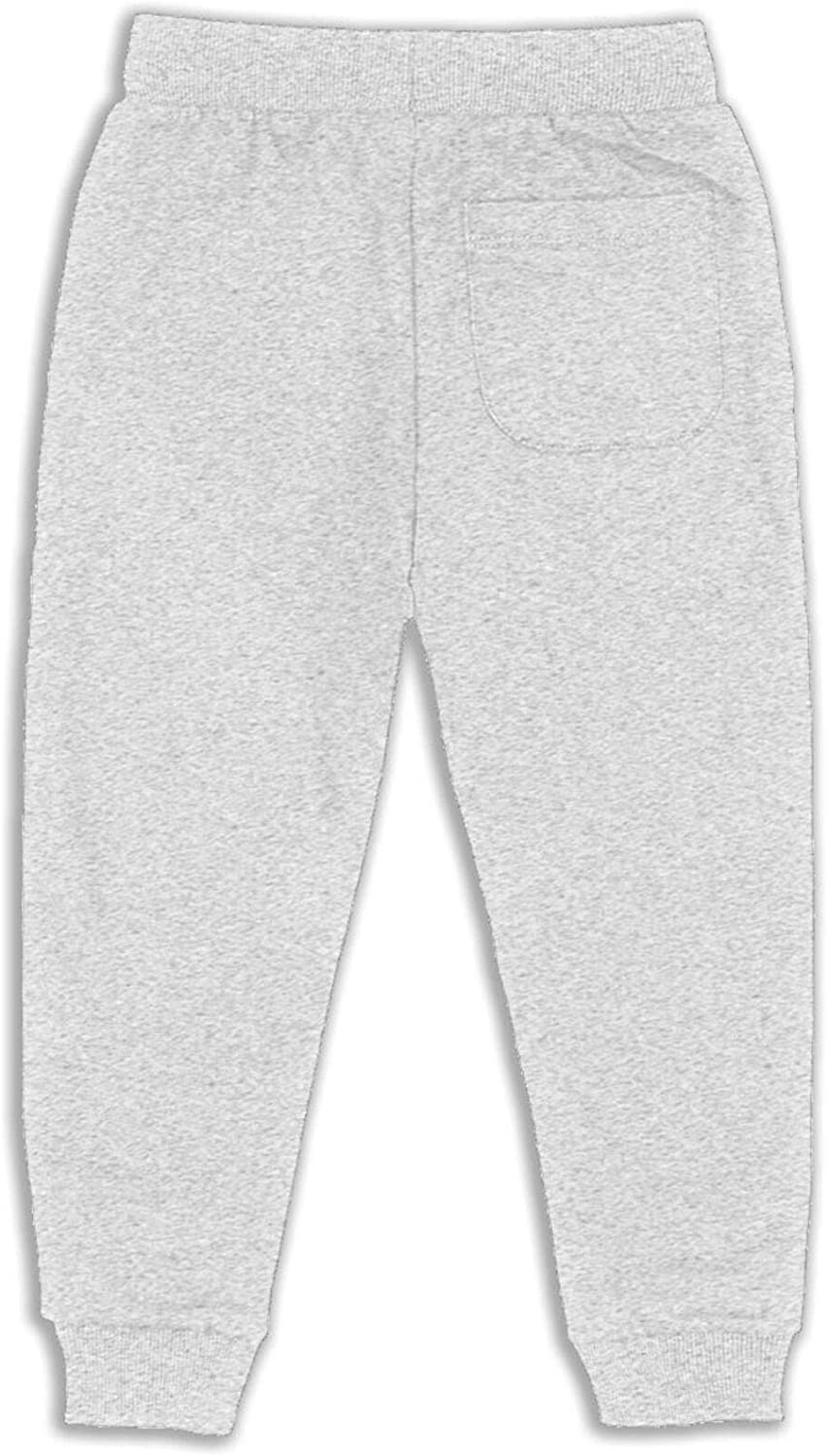 Maoyouuxian You Can Run from Your Problems Boy Toddler Boys'Cotton Jogger Sweat Pants 2t-6 (5-6 Years)