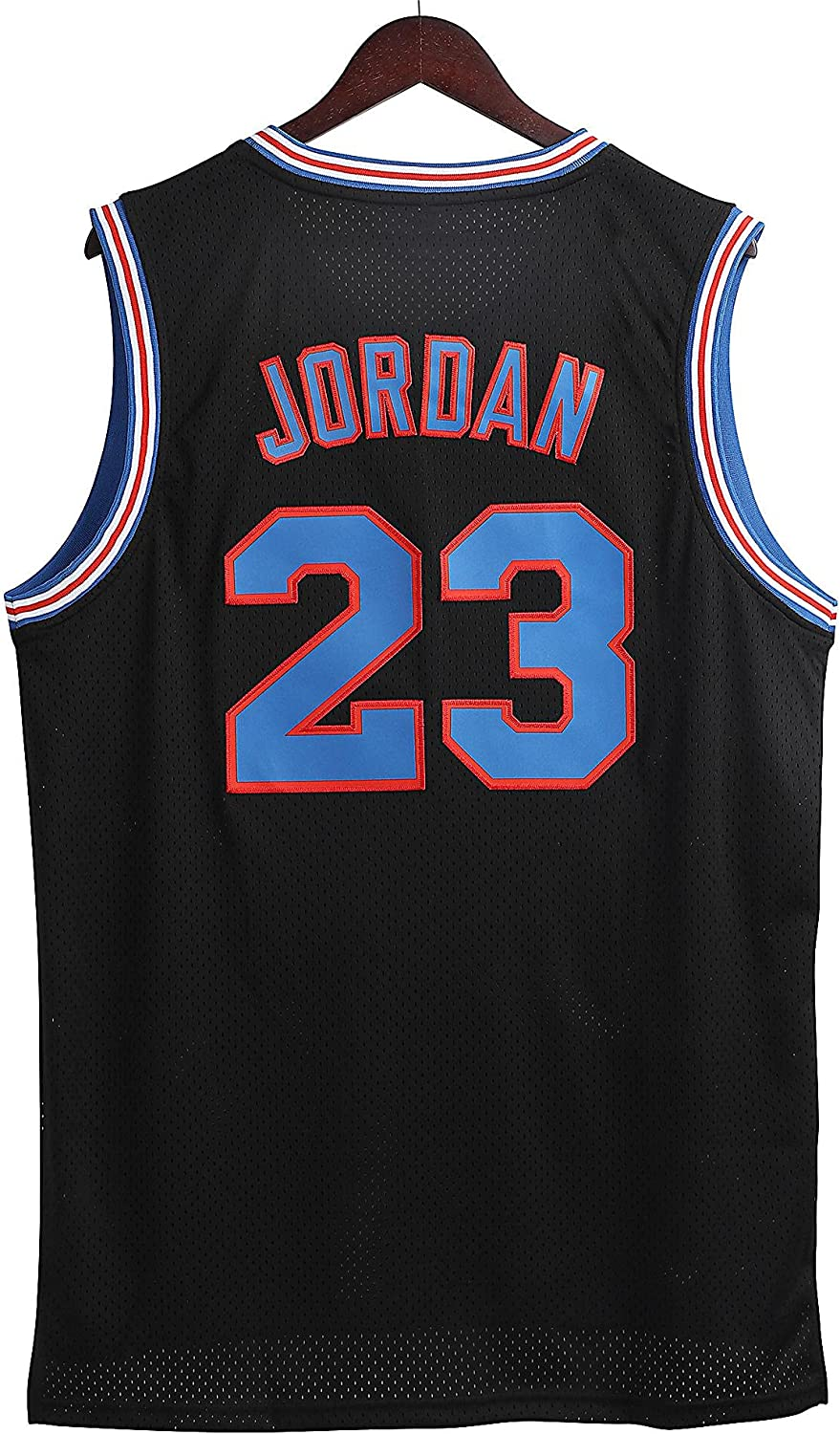 Chic Joias Mens 23# Space Movie Jersey Basketball Jersey 90S Hip Hop Stitched Clothing for Party White/Black/Blue: Clothing