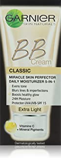 Garnier SkinActive BB Cream Classic SPF 15 with Mineral Pigments & Vitamin C - Extra Light shade, 50 ml