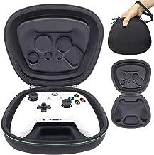 Sisma Funda rigida para Mando wireless Xbox One - Estuche de transporte para guardar y proteger Gamepad original de Xbox One S o One X, color negro