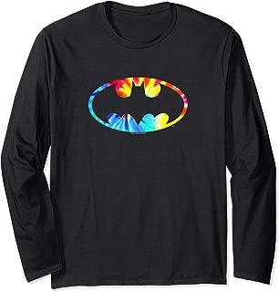 Batman Tie Dye Batman Logo Longsleeve T Shirt Long Sleeve T-Shirt