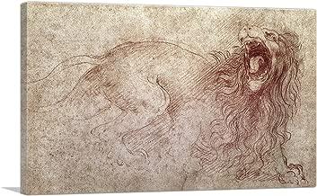 ARTCANVAS Sketch of a Roaring Lion Canvas Art Print by Leonardo da Vinci - 12