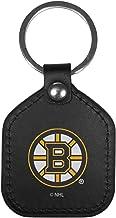 Siskiyou Sports NHL Boston Bruins Unisex Leather Square Key Chains, Black, One Size