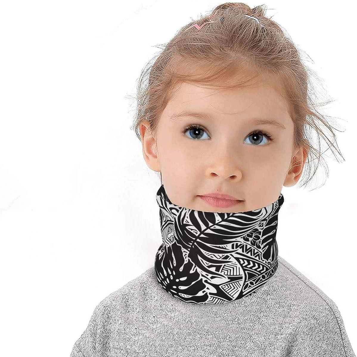 Puppy Boston Terrier Kids Winter Fleece Neck Gaiter Warmer Bandanas Fashion Drawstring Scarf