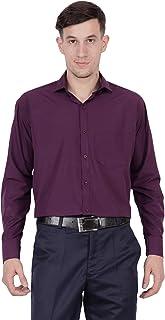 Appel Touch Men's Cotton Blend Formal Shirt (400 Purple)