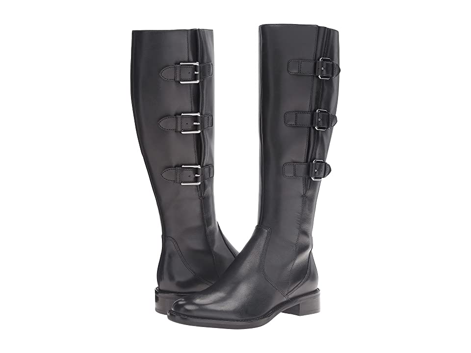 ECCO Hobart Buckle 25 MM Boot (Black Cow Leather) Women