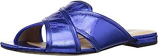 Marc Jacobs Women's Aurora Flat Sandal Slide, blue, 35.5 M EU (5.5 US)