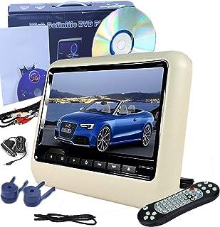 9-Inch Car Headrest DVD Player, High-Definition Digital Screen Image LCD Display, Resolution 800 × RGB × 480, external hea...