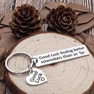 Coworkers Leaving Gifts Keychain for Men Women Good Bye Farewell Parting Going Away Gifts for Coworker Supervisor Boss Colleagues Friends Promotion Quitting Gifts for Him Her Presents