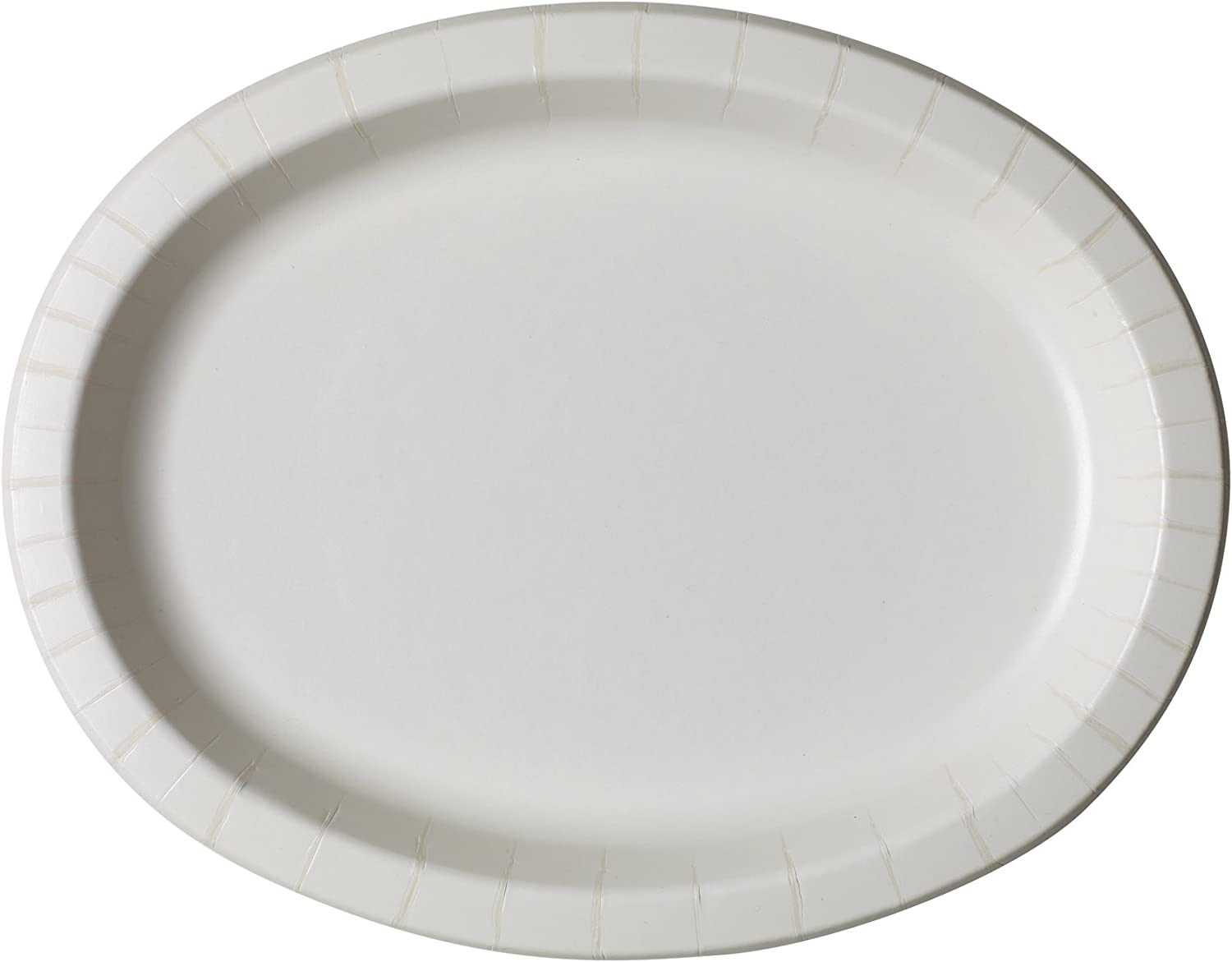 Dixie Ultra?Heavy-Weight Oval Paper Platter by GP PRO (Georgia-Pacfic), White, SX11PLW, 11  Length x 8.5  Width, 500 Count (125 Per Pack, 4 Packs Per Case)