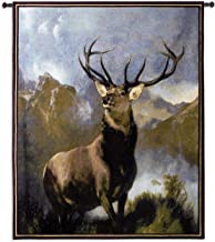 "Fine Art Tapestries ""Monarch of The Glen Wall Tapestry"