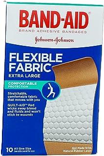 باند پارچه ای انعطاف پذیر Band-Aid فوق العاده بزرگ همه یک سایز - 10 سی تی ، بسته 3 عددی