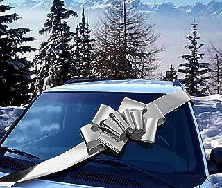 Big Metallic Silver Car Bow - 25