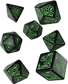 Q Workshop Call of Cthulhu 7th Edition Black & Green Dice Set