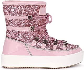 Chiara Ferragni Collection Woman's Chiara Ferragni Snow Boots in Paint Leather and Pink Glitter